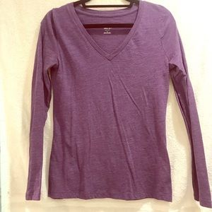 2 Mossimo supply blue and purple Long-sleeved Tee
